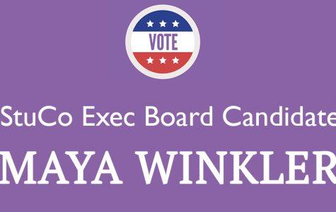 Meet the Candidate: Maya Winkler '18
