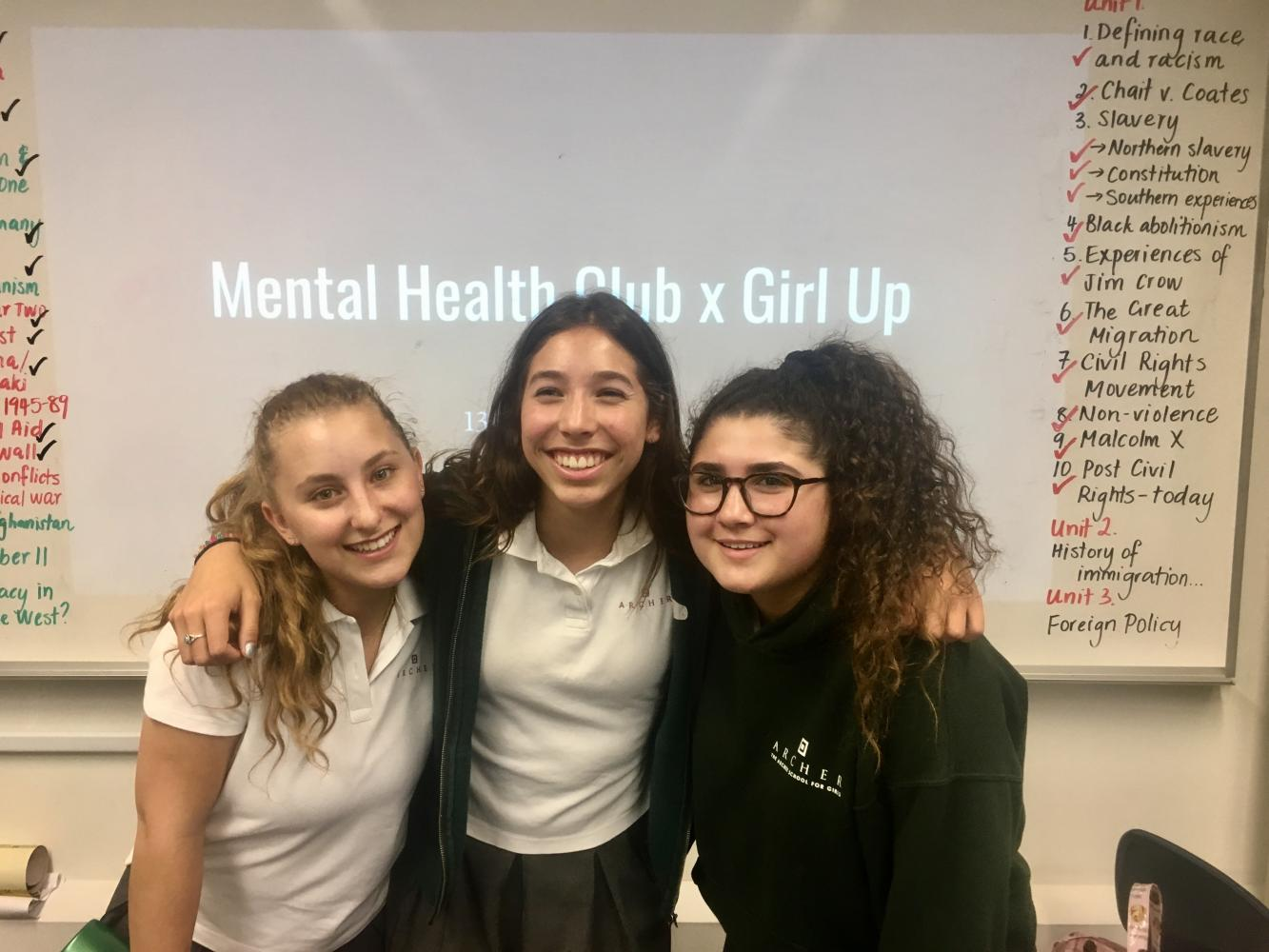The Girl Up and Mental Heath clubs teamed up to have a discussion about