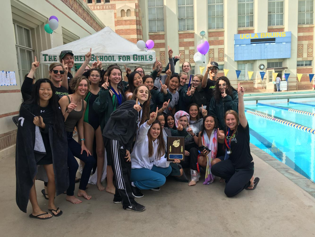 The varsity swim team made Archer history when they won the Liberty  League Championship for the third consecutive year. The team is led by two senior captains.