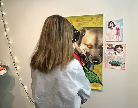 Madison Turner and Claire Sulzer showcase senior art shows