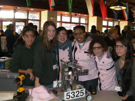 Members of The Robotics Team 'Design, Build, Wire'