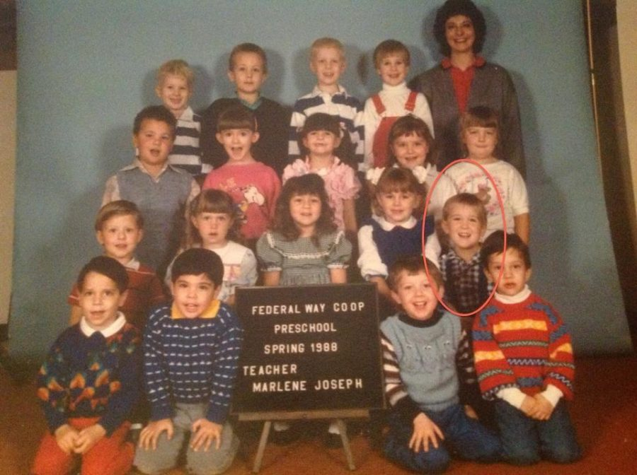 MR. HUTCHISON, age 5.  This is his pre-school picture.  He says,
