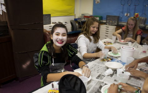 Archer girls participating in a Halloween activity in their classroom. Photo by Cece Bobbitt '15
