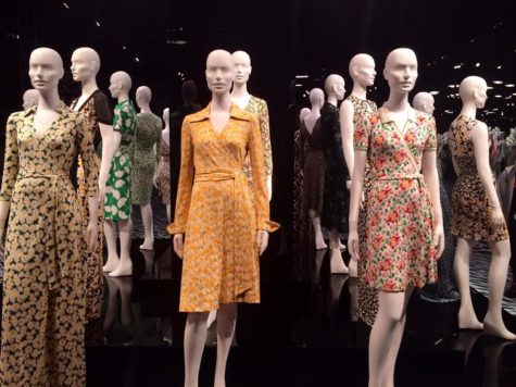 An overview of the main room inside The Journey of A Dress exhibit. Source: Helena Heslov