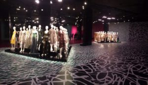 An overview of the main room inside The Journey of A Dress exhibit.  Source: Helena Heslov '16
