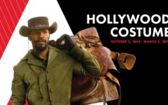 Promotional poster for the exhibit created by Hollywood Costume, which features Jamie Foxx as Django from