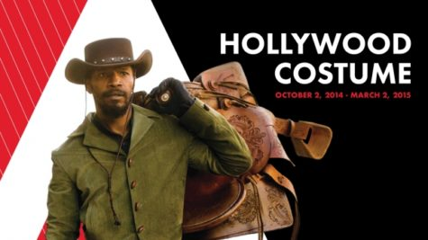 "Promotional poster for the exhibit created by Hollywood Costume, which features Jamie Foxx as Django from ""Django Unchained"". Source: Oscars"