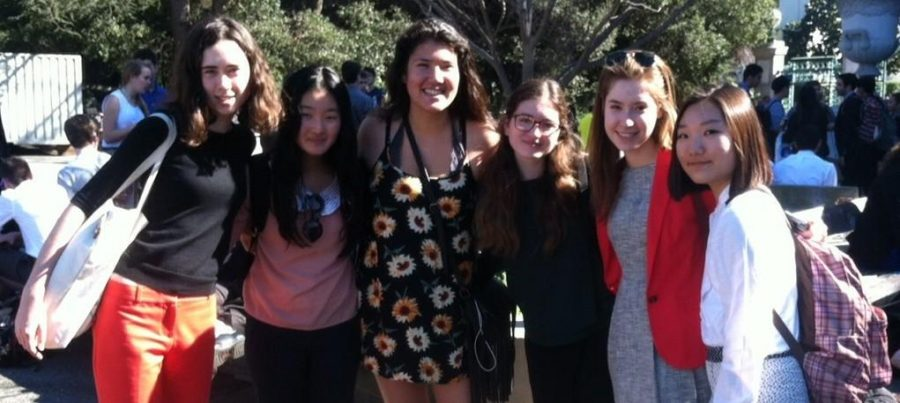 The Archer Debate Team competed at the UC Berkeley Cal Invitational Feb.14-16. The girls visited with Fatima Toksanbaeva '14 who is now a student at UC Berkeley. Photographer: Kate Webster.