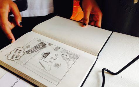 Michelle Johnson displays work from 2 years of studio art
