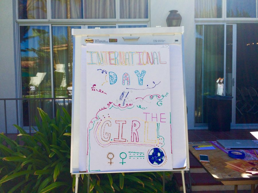 The+Archer+community+celebrates+the+International+Day+of+the+Girl.+The+Girls+Empowering+Girls+%28GEG%29+club+planned+most+of+the+festivities+for+the+celebration+in+the+courtyard.+Photographer%3A+Isabelle+Kantz+%2716