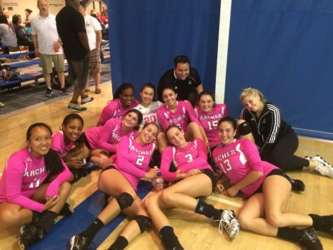 Varsity Volleyball places first at Milken Dig Pink Tournament