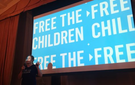 During one of the presentations of the day, the Class of 2019 learned about the organization Free the Children. Founded by Craig and Marc Kielburger, Free the Children is an international charity that advocates for human and youth rights. Photo by Ella Tollman '19
