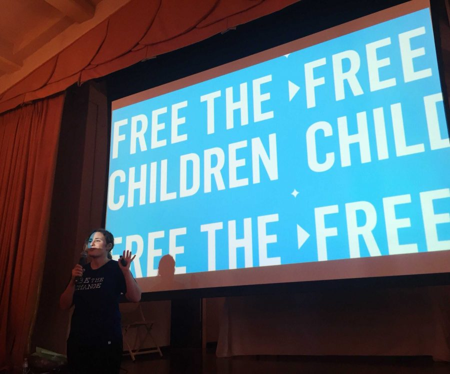 During+one+of+the+presentations+of+the+day%2C+the+Class+of+2019+learned+about+the+organization+Free+the+Children.+Founded+by+Craig+and+Marc+Kielburger%2C+Free+the+Children+is+an+international+charity+that+advocates+for+human+and+youth+rights.+Photo+by+Ella+Tollman+%2719