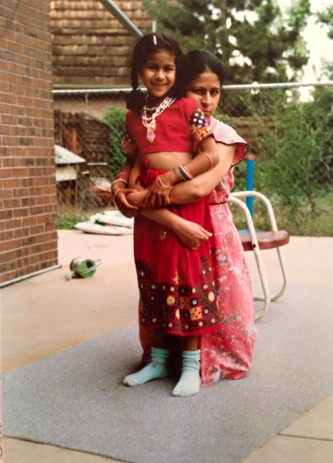 Arora with her mother