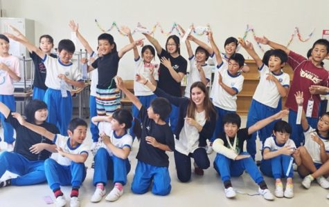 Mari Goldberg visits the Unozumai Elementary School in Tohoku, Japan. Picture used with permission from Mari Goldberg.