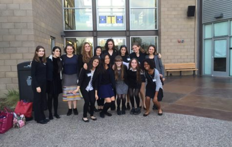 The Model UN club at their conference in San Diego. The girls bonded on their first group trip. Photo by Johanna Greene