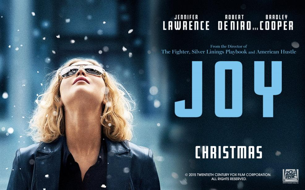 Jennifer Lawrence poses as Joy Mangano in the promotional poster for