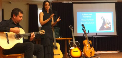 Musical guests speak with, perform for Spanish classes