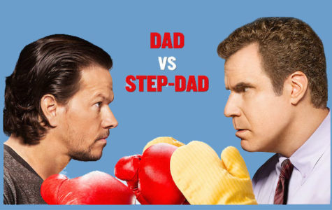 Will Ferrell and Mark Wahlberg stand together as Brad and Dusty. The promotional poster for