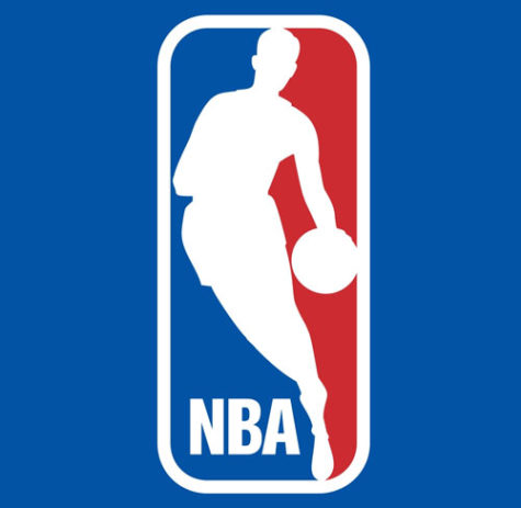 West's silhouette on the NBA logo. The logo was created in 1969 as is still in use. Image source NBA.