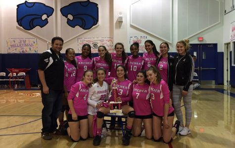 Varsity volleyball 'Digs Pink,' wins Milken Tournament for third consecutive year