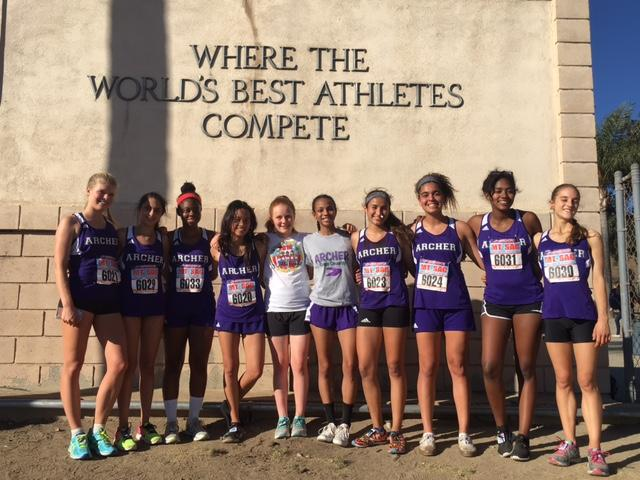Varsity+cross+country+team+poses+at+Mt.+SAC.+The+venue+is+known+as+the+place+%22where+the+world%27s+best+athletes+compete.%22