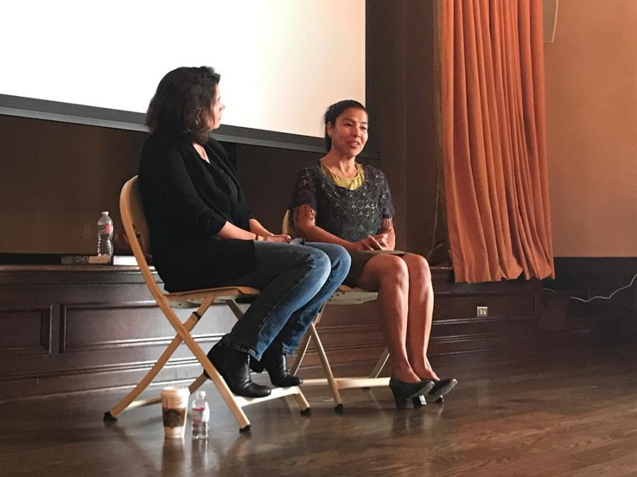 On+the+fourth+International+Day+of+the+Girl%2C+actress+and+human+rights+activist+Julia+Ormond+and+trafficking+survivor+and+activist+Maria+Suarez+present+about+human+trafficking+and+being+an+agent+of+social+change.