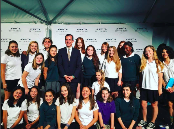 Archer+students+who+participate+in+the+STEM+program+or++InvenTeam+at+Archer+were+invited+by+the+First+Lady+of+Los+Angeles+to+the+Getty+House.+Photo+Courtesy+of+Ciel+Torres+%2717.+