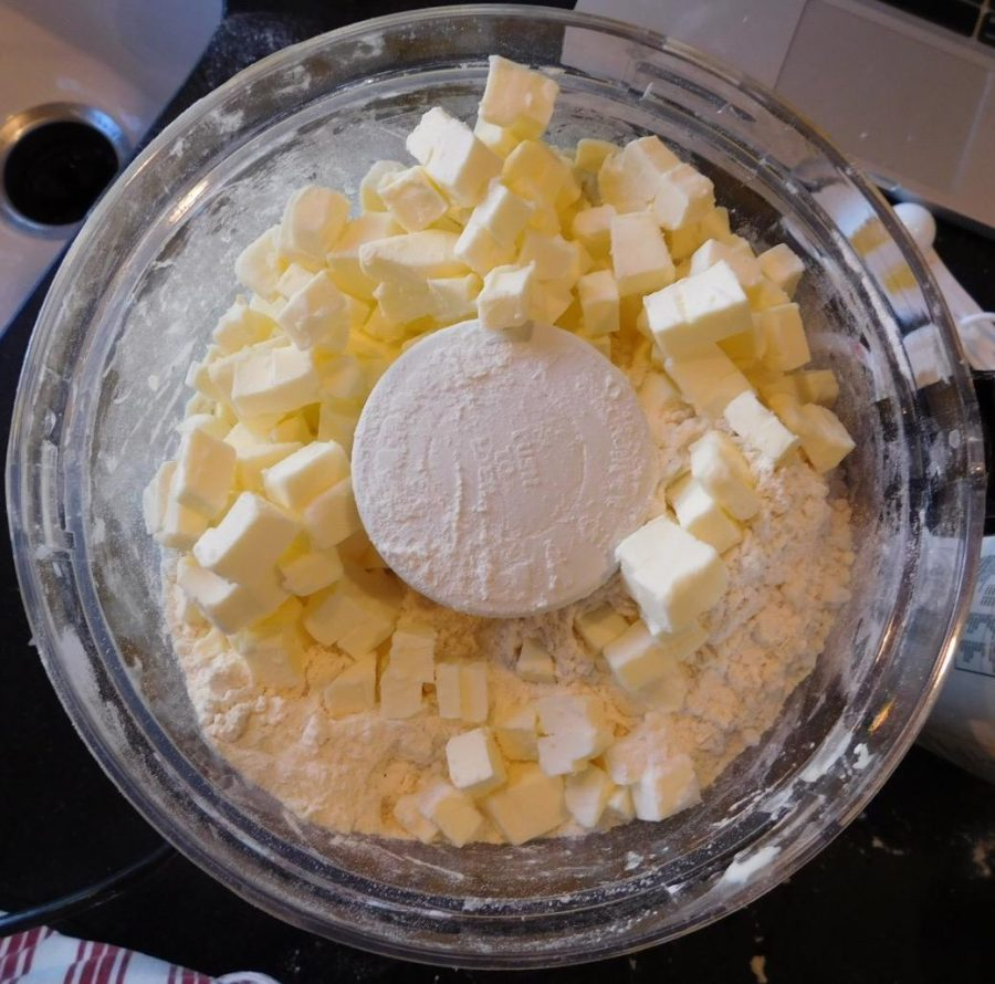 I combined butter, salt, sugar, flour and ice water into a delectable pie crust.