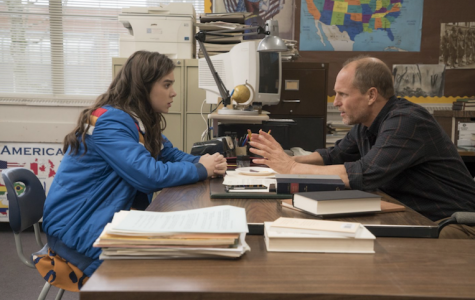 A still of Hailee Steinfeld and Woody Harrelson in 'The Edge of Seventeen.' Harrelson portrays Steinfeld's sarcastic yet caring history teacher.  Image source: edgeof17.movie