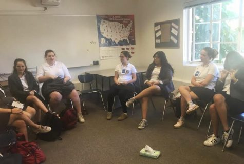 """The senior seminar """"Voice of Democracy,"""" colloquially known as """"elections class,"""" holds a council for everyone to process their emotions."""