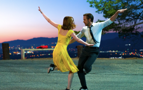 A still of Emma Stone and Ryan Gosling in 'La La Land.' Gosling portrays a jazz pianist who falls for an aspiring actress [Stone]. The film broke indie box offices records on opening weekend, making an estimated $855,000. Image source: lalaland.movie