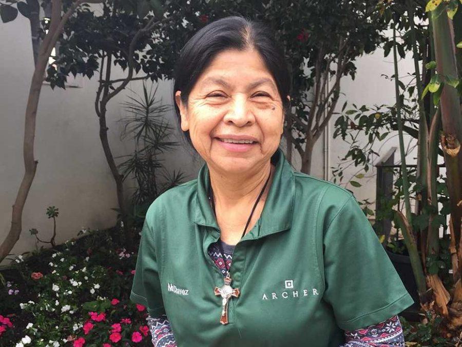 Maria Chavez on the Archer campus. Photo by Eden Motzkin.