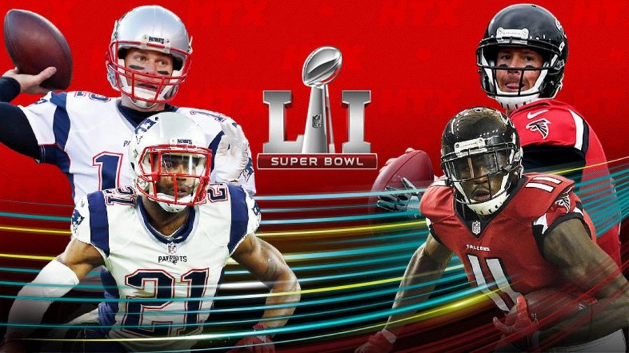 Super Bowl LI aires on Sunday, Feb. 5, 2017. The New England Patriots and Atlanta Falcons will face off for the honor of being named world champions. Image source NFL.