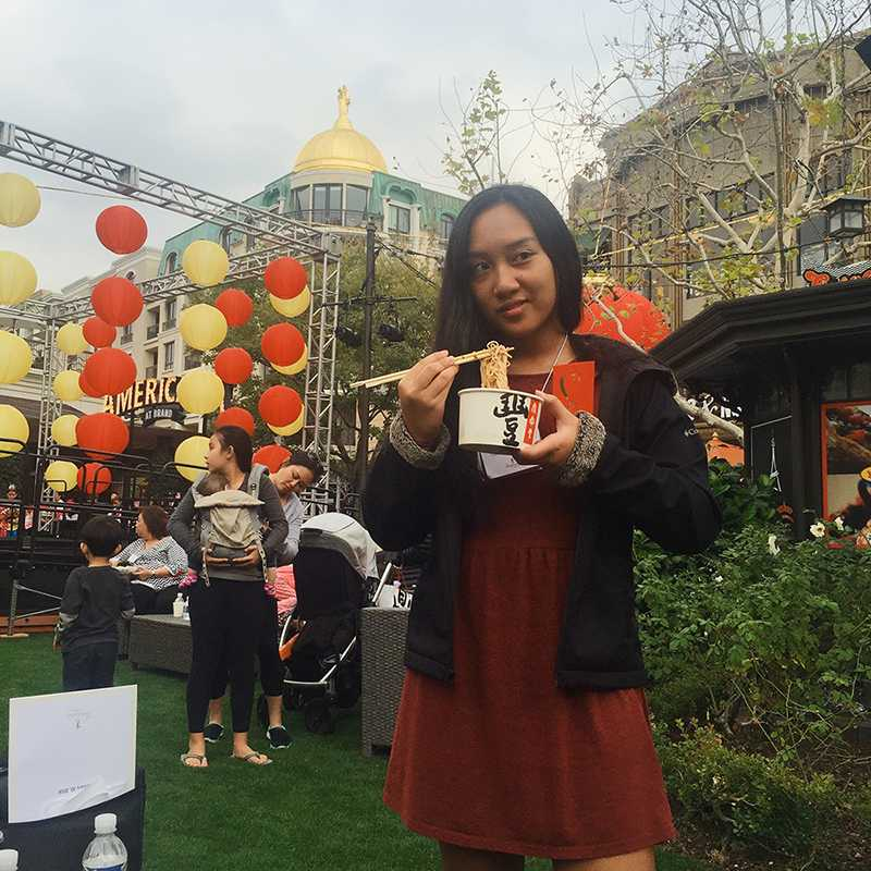 This is me, wearing red, eating noodles from Din Tai Fung and holding my hongbao at The Americana's Chinese New Year Celebration in 2016. Chinese New Year is one of my favorite holidays. 2017 is the year of the Fire Rooster; since I was born in 2000, I am a Golden Dragon.