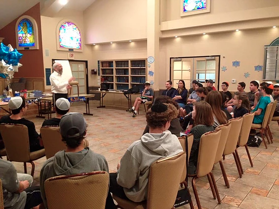 A snapshot from a Hebrew High Class at the Chabad of Conejo. This is one of the many synagogues that have been impacted by anti-semitic crimes in recent years. Photo used with permission from the Chabad of Conejo Valley.