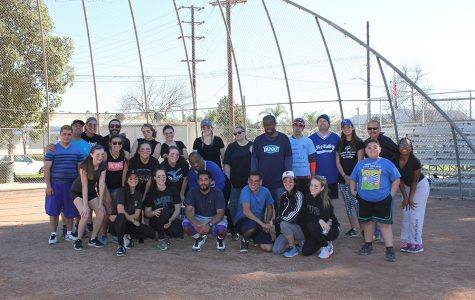 The Archer students, faculty and Special Olympic Athletes pose for a group photo. This was the first kickball game associated with Special Olympics. Photo courtesy of Gustat-Karzen