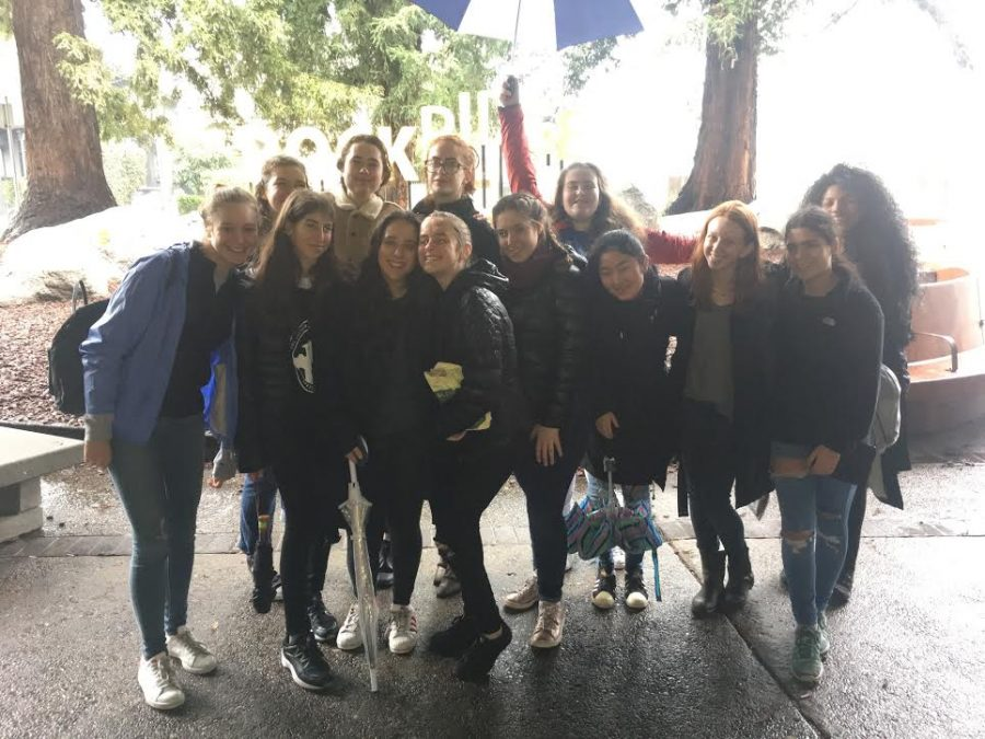 The Archer debate team poses in Oakland after their last rounds at the Berkeley invitational. Adler has been on the debate team since her freshman year. Image courtesy of Adler.