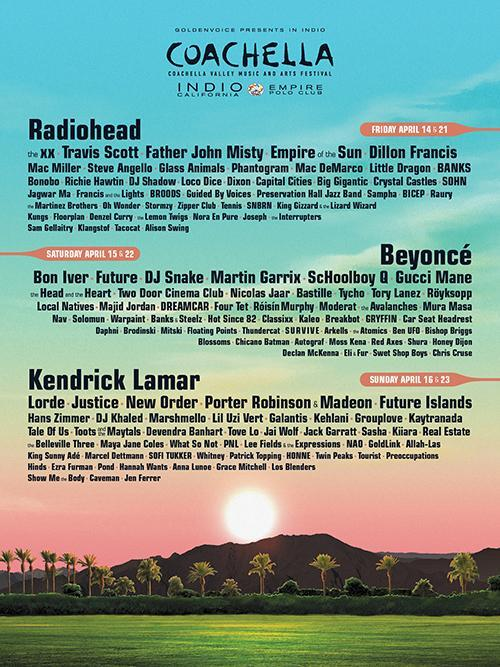 Lady Gaga is set to headline Coachella on April 55 and 22. According to FestivalSearcher, Coachella is the second top music festival in the USA. Image source: Coachella's Official Twitter