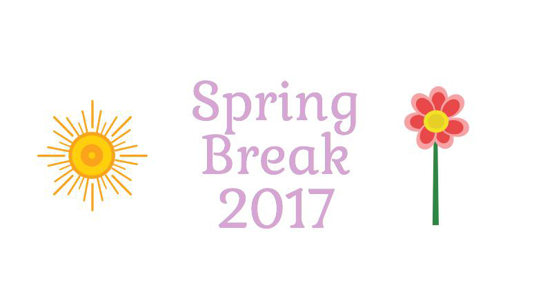 Spring break 2017 playlist. Infographic by Logan Connors