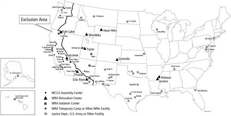 map of internment camps across america there were 10 in total image source national park service