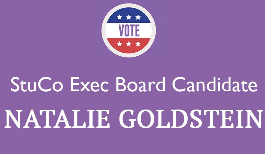 Meet the Candidate: Natalie Goldstein '18