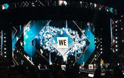 Participants wait for the WE Day festivities to start. The event celebrates youth catalyzing local and global change.