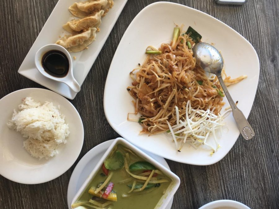 My+meal+from+Vegan+Glory.+The+pad+Thai+is+%248.95%2C+the+green+curry+is+%249.95+and+the+vegetable+potstickers+are+%244.95.+