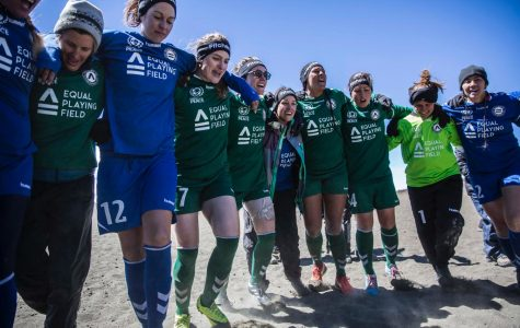 Kim Smith participates in record setting soccer game, fights for female equality