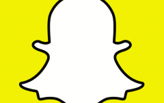 Snapchat's ghost logo. The app's streak feature fuels constant phone checking. Image source:  Snapchat.