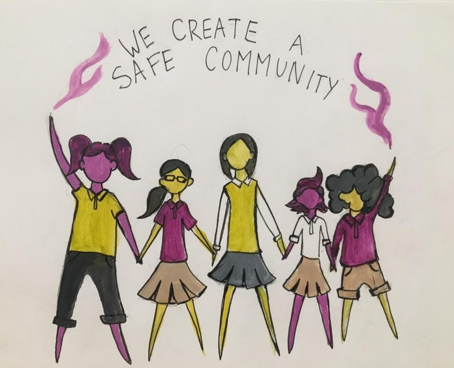 In order to make Archer as safe as possible, students must stand together to prevent sexual misconduct. Archer's prevention protocol is forward thinking, but students need to know more about it. Illustration by Kisa Rozenbaoum.