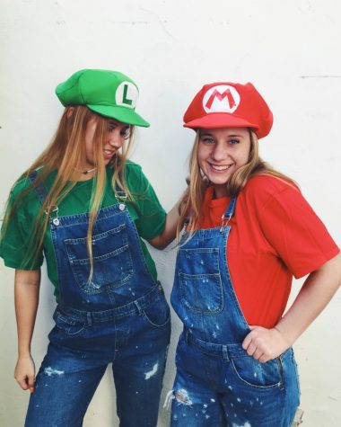 Six creative diy halloween costumes the oracle regina valitova 18 and claire bardin 18 pose together as mario and luigi top off this costume with the iconic mario and luigi hats solutioingenieria Images