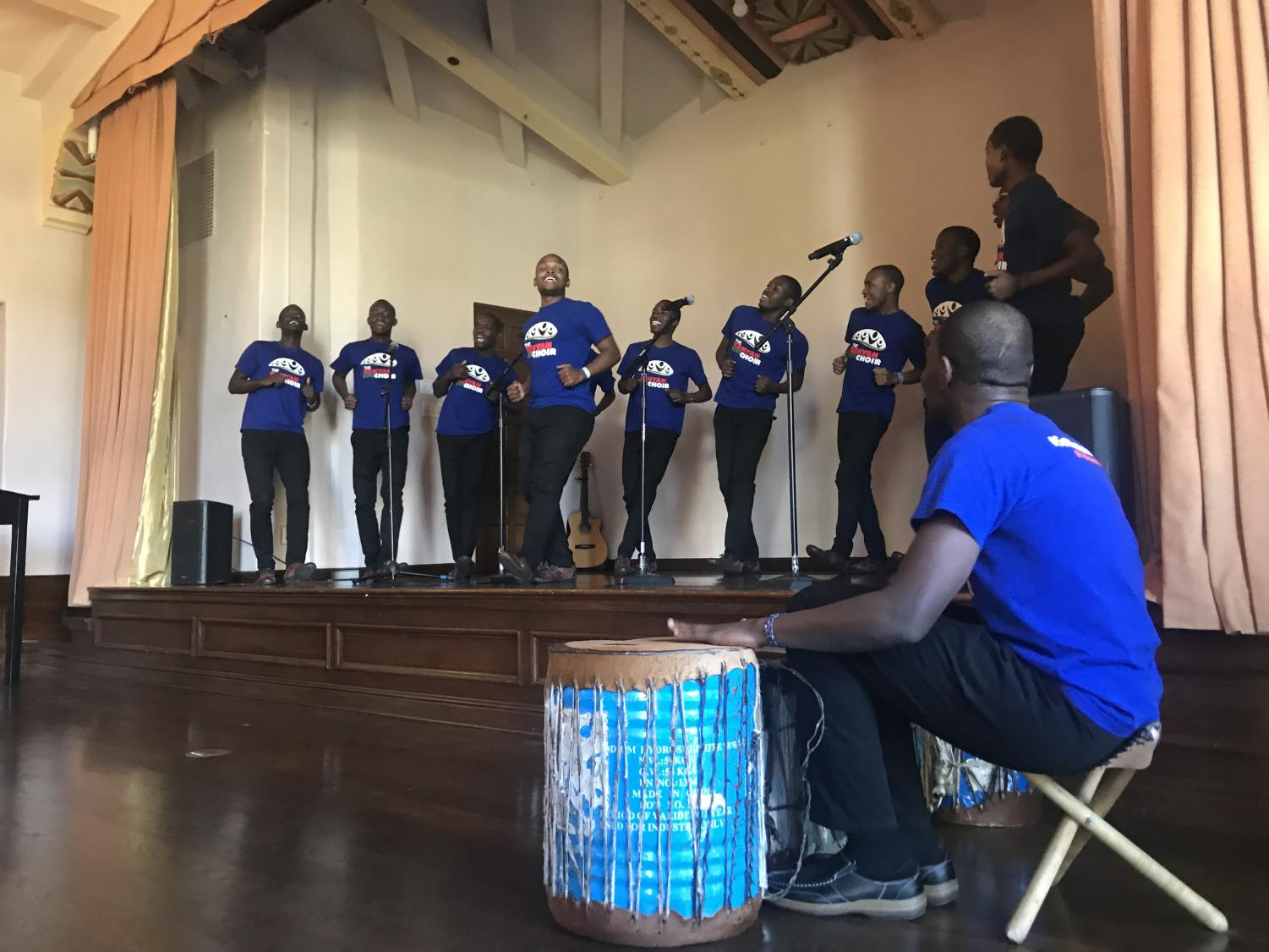 The Kenyan Boys Choir performs a traditional song. The group performed at Barack Obama's inauguration.