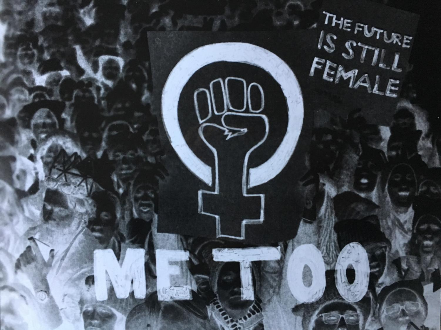 Artwork emphasizing the #MeToo movement. The #MeToo movement was created to support survivors of sexual violence. Illustration by Arianna Miller '20.